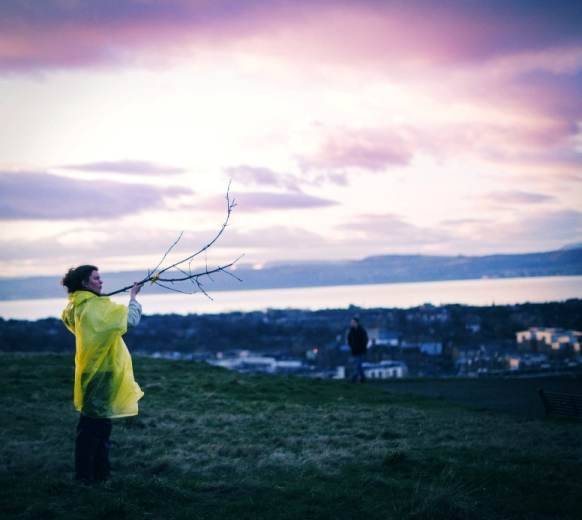 Calton Hill Constellations - site specific twilight performance