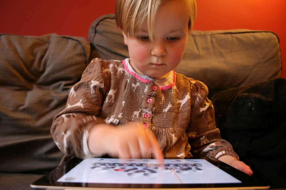 Testing the app with young children and caregivers